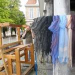 Scarves in Fishmarket Brugge